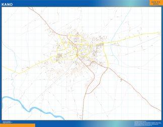Mapa Kano en Nigeria plastificado gigante