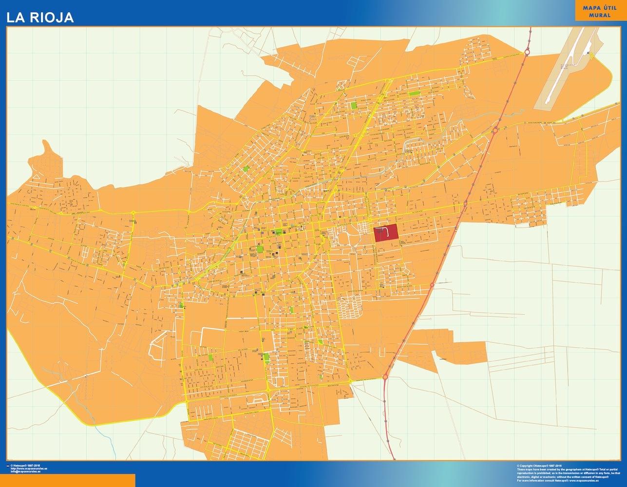 Mapa La Rioja en Argentina plastificado gigante