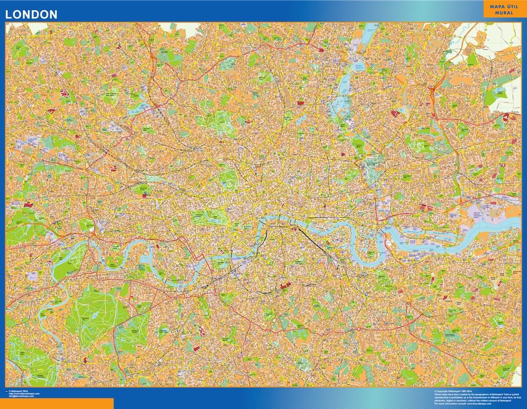 Mapa Londres plastificado gigante