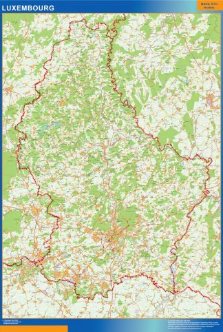 Mapa Luxemburgo plastificado gigante