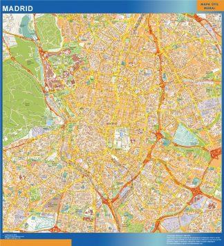 Mapa Madrid callejero plastificado gigante