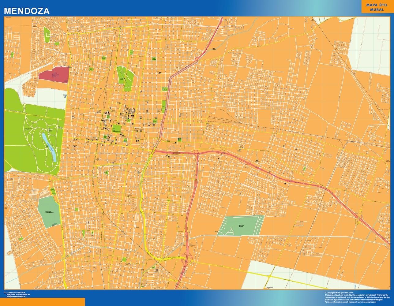 Mapa Mendoza en Argentina plastificado gigante
