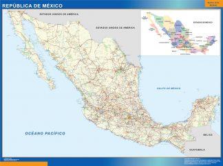 Mapa Mexico plastificado gigante