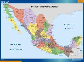 Mapa Mexico Politico plastificado gigante