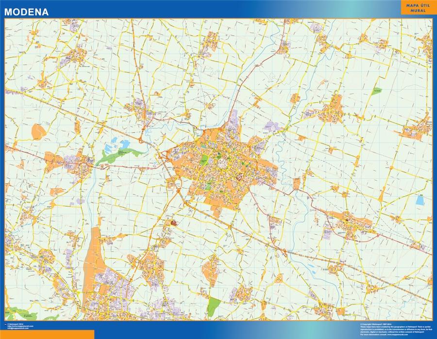 Mapa Modena plastificado gigante
