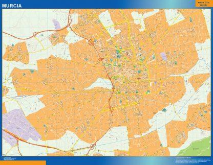 Mapa Murcia callejero plastificado gigante