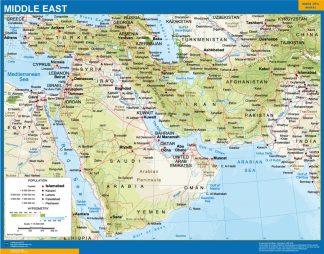 Mapa Oriente Medio plastificado gigante