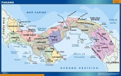 Mapa Panama plastificado gigante
