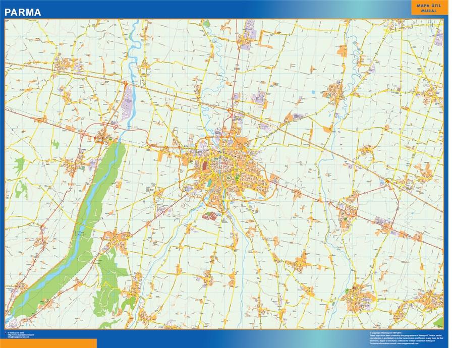 Mapa Parma plastificado gigante
