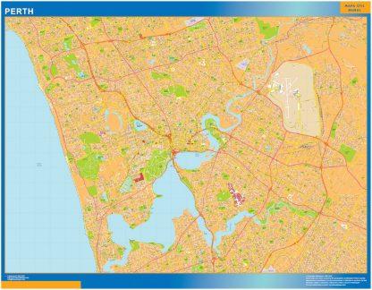 Mapa Perth Australia plastificado gigante