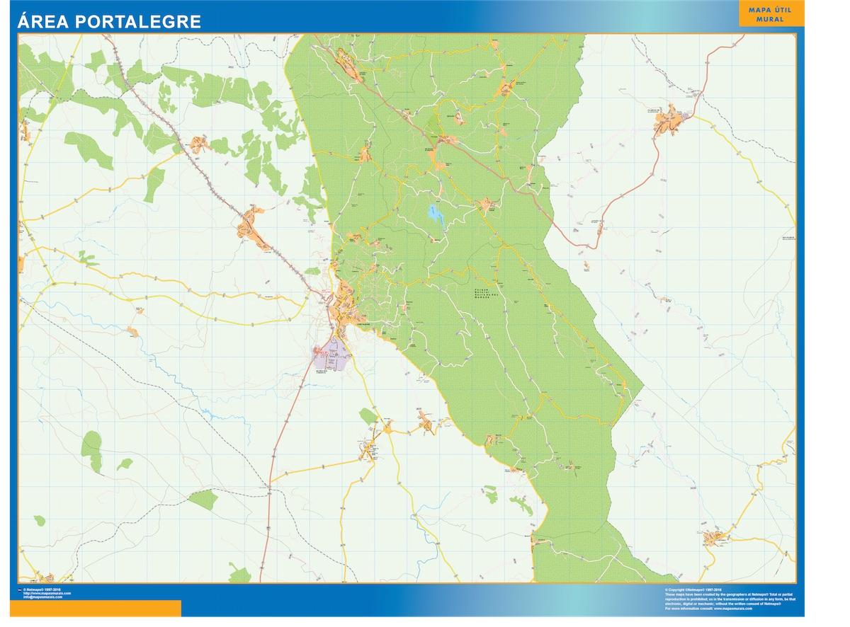 Mapa Portalegre área urbana plastificado plastificado gigante