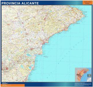 Mapa Provincia Alicante plastificado gigante