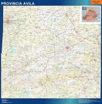 Mapa Provincia Avila plastificado gigante