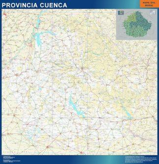 Mapa Provincia Cuenca plastificado gigante