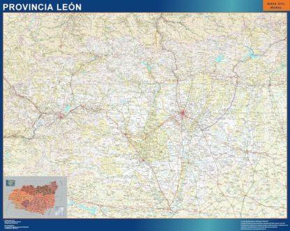 Mapa Provincia Leon plastificado gigante