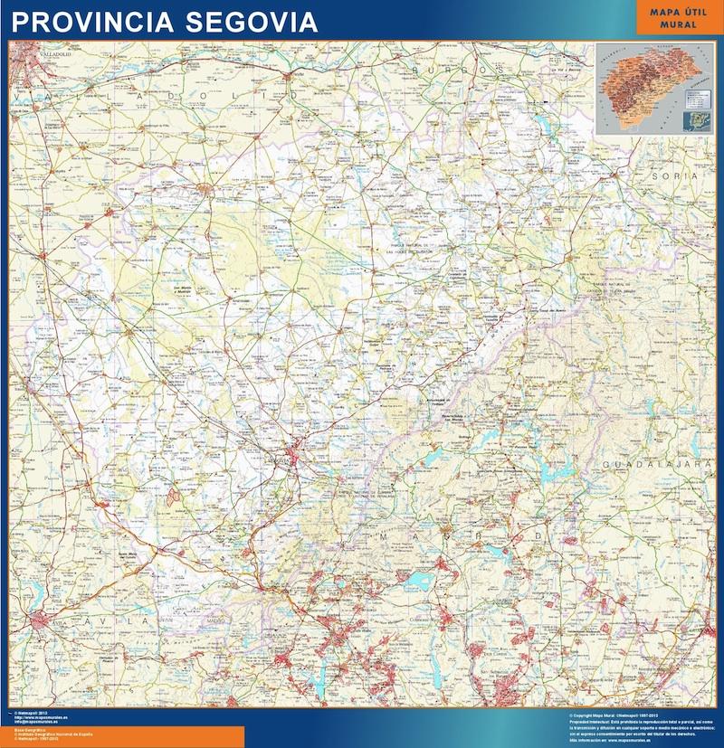 Mapa Provincia Segovia plastificado gigante