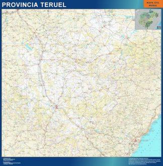 Mapa Provincia Teruel plastificado gigante