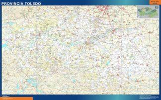 Mapa Provincia Toledo plastificado gigante