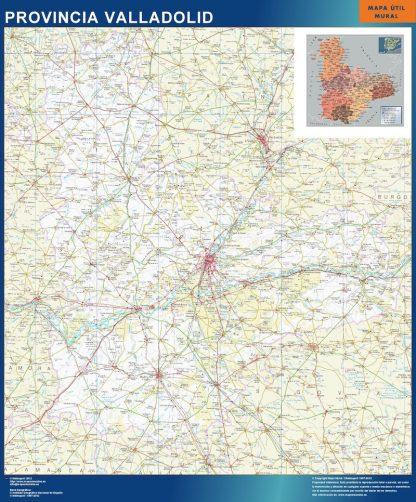 Mapa Provincia Valladolid plastificado gigante