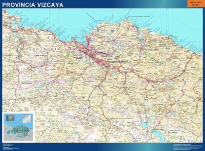 Mapa Provincia Vizcaya plastificado gigante