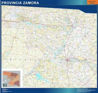 Mapa Provincia Zamora plastificado gigante