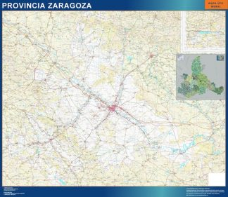 Mapa Provincia Zaragoza plastificado gigante