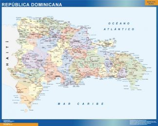 Mapa Republica Dominicana plastificado gigante