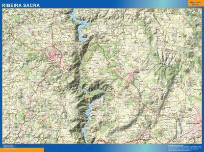 Mapa Ribeira Sacra plastificado gigante