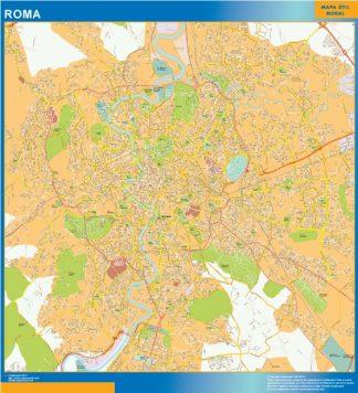 Mapa Roma plastificado gigante