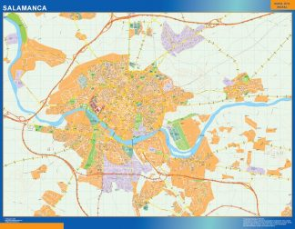 Mapa Salamanca callejero plastificado gigante