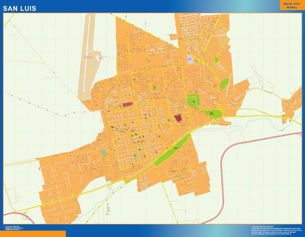 Mapa San Luis en Argentina plastificado gigante