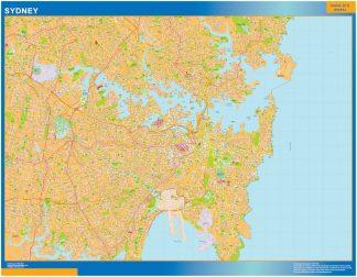 Mapa Sydney Australia plastificado gigante