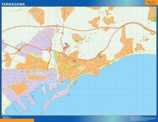 Mapa Tarragona callejero plastificado gigante