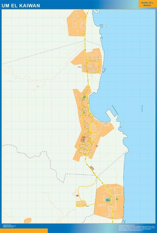 Mapa Um el Kaiwan plastificado gigante