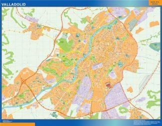Mapa Valladolid callejero plastificado gigante