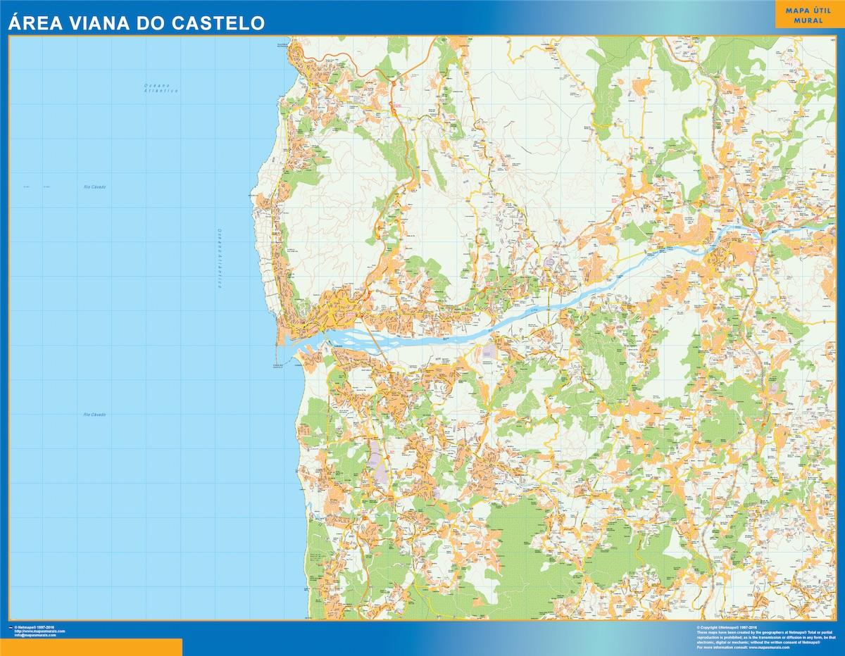 Mapa Viana Do Castelo área urbana plastificado gigante