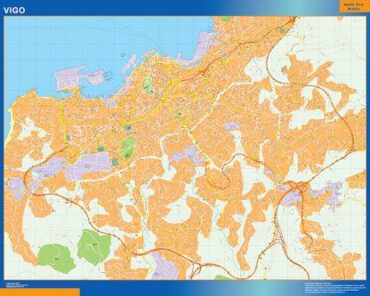 Mapa Vigo callejero plastificado gigante