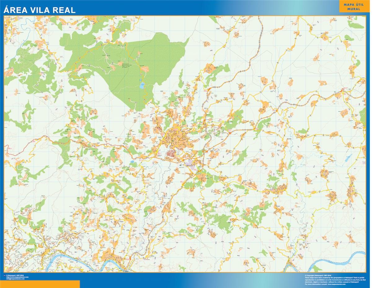 Mapa Vila Real área urbana plastificado gigante