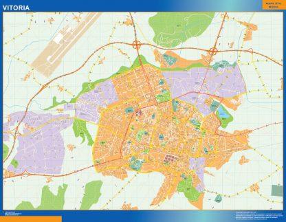 Mapa Vitoria callejero plastificado gigante