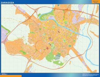 Mapa Zaragoza callejero plastificado gigante