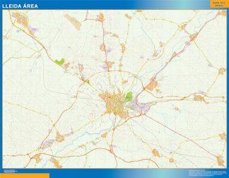 Mapa carreteras Lleida Area plastificado gigante