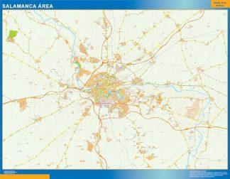 Mapa carreteras Salamanca Area plastificado gigante