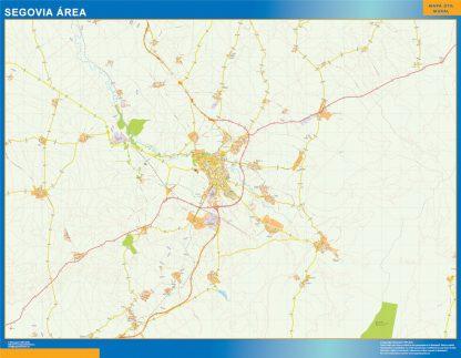 Mapa carreteras Segovia Area plastificado gigante