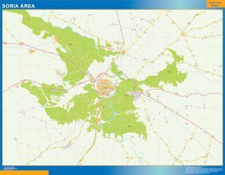 Mapa carreteras Soria Area plastificado gigante