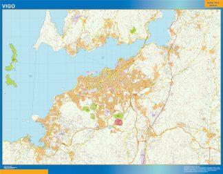 Mapa carreteras Vigo Area plastificado gigante