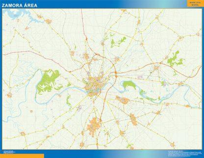 Mapa carreteras Zamora Area plastificado gigante