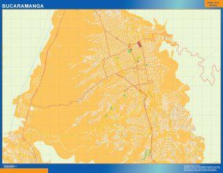 Mapa de Bucaramanga en Colombia plastificado gigante
