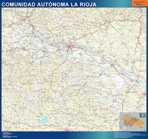 Mapa de La Rioja plastificado gigante