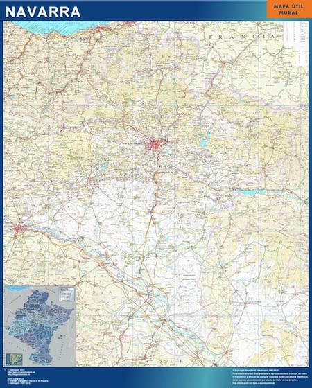 Mapa de Navarra plastificado gigante