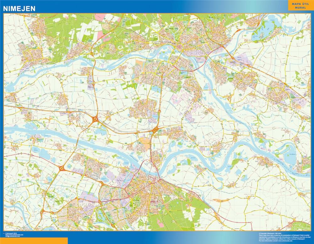 Mapa de Nimejen plastificado gigante